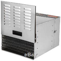 Commercial Food Dehydrator 10 Tray Stainless Steel Fruit Jerky Dryer Blower