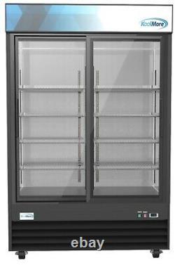 Commercial Glass 2 Door Display Refrigerator Merchandiser Beverage Cooler 53
