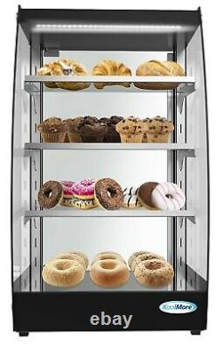 Commercial Glass Bakery Display case 4 Tier Self Service Pastry Case with LED
