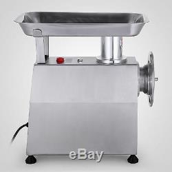 Commercial Grade 1.1HP Electric Meat Grinder 800W Stainless Steel Heavy Duty