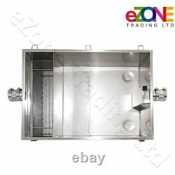 Commercial Grease Trap 98 Litre Catering Waste Fat Oil Filter Stainless Steel