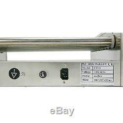 Commercial Hot Dog Grill Cooker Machine 11 Roller Stainless Steel With Cover New