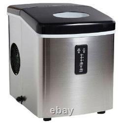 Commercial Ice Maker Fridge Ice Cube Machine Stainless Steel Countertop Built-in
