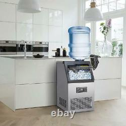 Commercial Ice Maker Stainless Steel Built-in Ice Cube Machine Undercounter 70KG