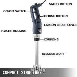 Commercial Immersion Blender Electric Handheld Mixer 16000RPM 350W 400mm Stick