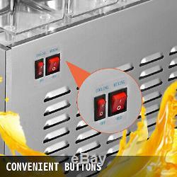 Commercial Juice Beverage Dispenser 150W 6.3 US gal Cold Drink Machine 2×12L