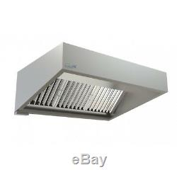 Commercial Kitchen Extraction Canopy Hood Kit 1500mm Extraction Fan & Ductwork