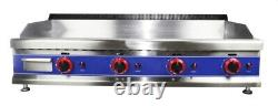 Commercial Kitchen Gas Hotplate Table Top Griddle Heavy Duty 115cm Burger Grill