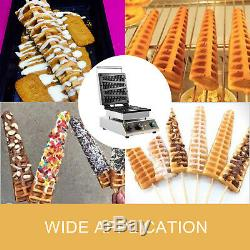 Commercial Lolly Waffle Maker Machine Muffin Maker Electric Crispy Maker 4PCS