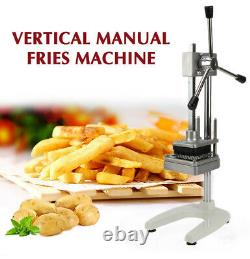 Commercial Manual Potato French Fries Cutter Vegetable Slicer Machine 3 Blades