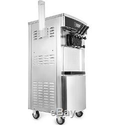 Commercial Mix Flavor Ice Cream Machine LED Screen Ice Cones Maker Easy to Clean