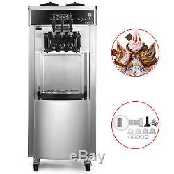 Commercial Mix Flavor Soft / Hard Ice Cream Machine Maker Ice Cream Cone 110V