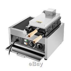 Commercial Nonstick 110V Electric 3pcs Fish Waffle Ice Cream Taiyaki Maker USA