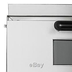 Commercial Pizza Oven 2200W Stainless Steel Electric Pizza Snack Oven Toaster
