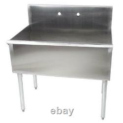 Commercial Sink 16-Gauge Steel 36 x 24 x 14 Bowl without Drainboard Regency