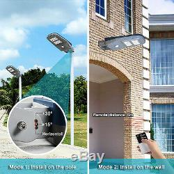 Commercial Solar Street Light Outdoor Lamp Post Area Lighting Batteries Remote