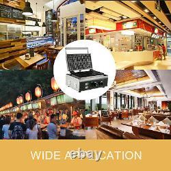 Commercial Square Waffle Maker Belgian Waffle Making Machine 1550W Muffin Stick