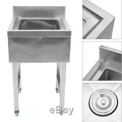 Commercial Stainless Steel Kitchen Utility Sink Single Slot- 20L20W36H US
