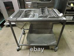 Commercial Stainless Steel Manual Donut Glazing Table with Casters