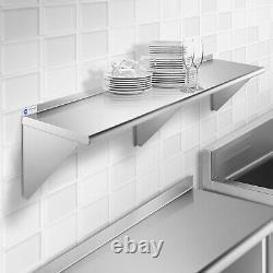 Commercial Stainless Steel Restaurant Kitchen Shelf Wall Shelving 18 x 72
