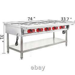 Commercial Steam Table Electric Steam Table 5-Well Steam Table 3750W