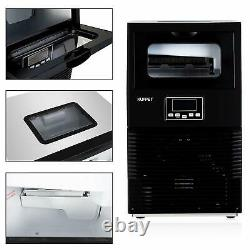Commercial Steel Stainless Ice Maker Auto Built-in Ice Cube Machine 88Lbs Home