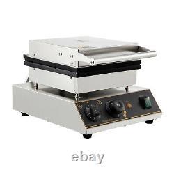 Commercial Waffle Maker Machine Waffle Bowl Maker LED Light SUS Teflon Coating