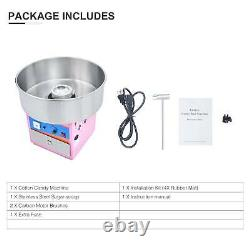 Cotton Candy Maker Commercial Electric Machine Kids Party Sugar Floss SS Pink