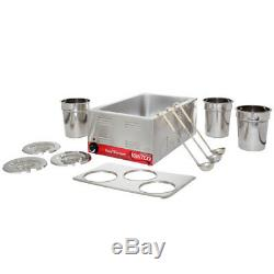 Countertop Food 3 Soup Station Steam Table 4 Qt Warmer Commercial Kettle Pan