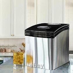 Crystal-clear Commercial Quality Solid Ice Maker portable Countertop Cube Maker