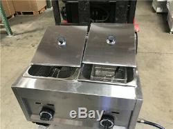Deep Fryer 7 Gallon Double Propane Commercial Countertop Kitchen Home Dual New