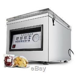 Digital Vacuum Packing Sealing Machine Sealer 300W Chamber Commercial Fresh