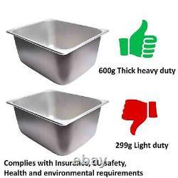 EZone Commercial Electric Twin Deep Fat Fryer 2x 10L-2.8kW Catering Takeaway