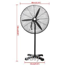 Electric 30 Floor Stand-up Pedestal Fan Commercial Industrial 120V Black
