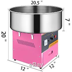 Electric Commercial Cotton Candy Machine / Floss Maker Pink New Special Gift