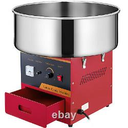Electric Commercial Cotton Candy Machine Red Sugar Floss Maker Party Carnival