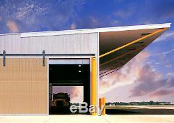 Exterior Black Steel Sliding Barn Door Hardware Track Up to 800LB Commercial Use