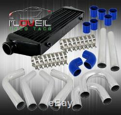 Fimc Turbo Intercooler+Silicone Coupler Blue+Piping Kit+Stainless Steel Clamps
