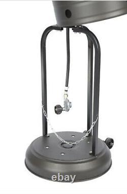 Fire Sense Commercial 46,000 BTU Propane Patio Heater Gray FAST
