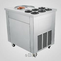 Fried Ice Cream Maker Roll Yogurt Fry Ice Cream Machine Commercial 1 Pan 6 Boxes