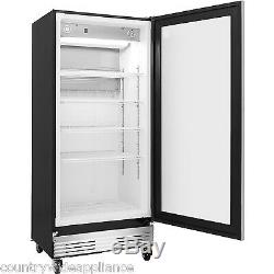 Frigidaire Commercial Stainless 17.9 cf Glass Door Front Refrigerator FCGM181RQB