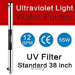 Geekpure Ultraviolet Light Water Purifier UV 55w 12GPM For Whole House 1 Port