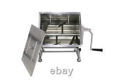 Hakka Tilt Tank Manual Meat Mixer Stainless Steel Commercial Kitchen Meat Hopper