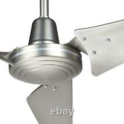 Hampton Bay Ceiling Fan Wall Control 60-Inch Indoor Outdoor Brushed Steel