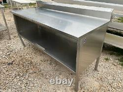 Heavy Duty 72 x 29.5 Commercial Stainless Steel Kitchen Work Table Cabinet