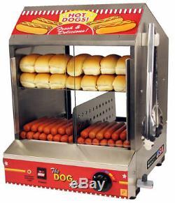 Hotdog Steamer Machine & Bun Warmer THE DOG HUT Commercial Hot Dog Cooker 8020