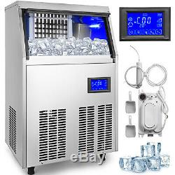Ice Cube Maker Machine 50Kg/110Lbs Commercial Water Filter R134a 50kg/24H