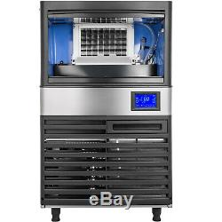 Ice Cube Maker Machine 55Kg/121Lbs Commercial Stainless Steel 235W R134a NEWEST