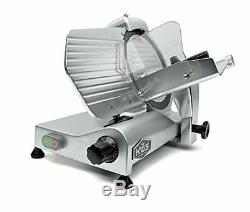 KWS Premium Commercial 320W Electric Meat Slicer 10 with Teflon Blade