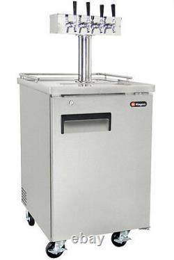 Kegco Commercial Grade Homebrew Kegerator Four Tap Keg Dispenser Stainless Steel